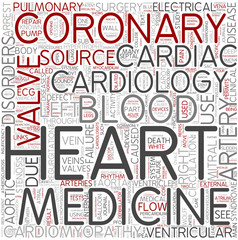 Cardiology Word Cloud Concept