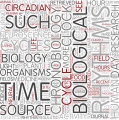 Chronobiology Word Cloud Concept