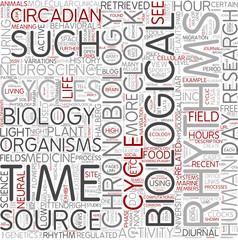 Chronobiology Word Cloud Concept