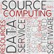 Cloud computing Word Cloud Concept