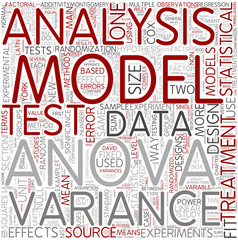 Analysis of variance Word Cloud Concept