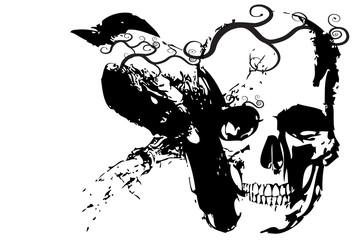 bird and skull