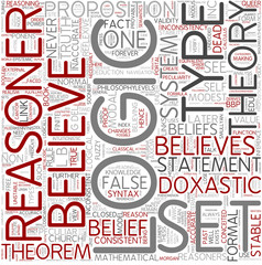 Doxastic logic Word Cloud Concept