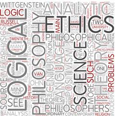 Analytic philosophy Word Cloud Concept