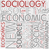 Economic sociology Word Cloud Concept