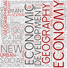 Economic geography Word Cloud Concept