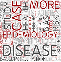 Epidemiology Word Cloud Concept