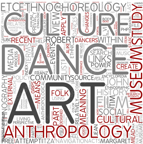 Ethnochoreology Word Cloud Concept