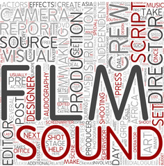 Filmmaking Word Cloud Concept