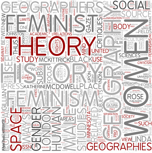 Feminist geography Word Cloud Concept