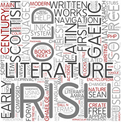 Gaelic literature Word Cloud Concept