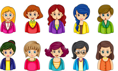 Different faces of the businesswomen