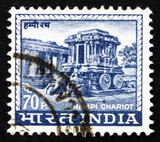 Postage stamp India 1967 Carved Stone Chariot, Hampi