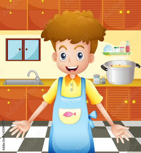 A smiling chef in the kitchen