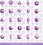 Diamond shapes collection - part 1