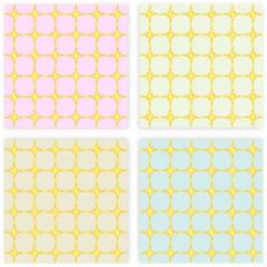 Sfondi grigi rosa e azzurro con decori dorati