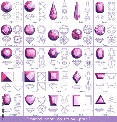 Diamond shapes collection - part 2 - 55941109