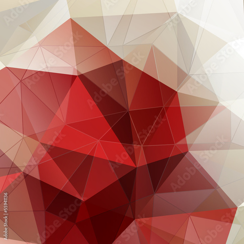 Poster Abstract red background