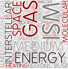 Interstellar medium Word Cloud Concept