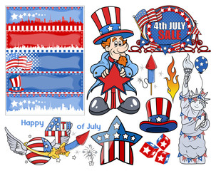 Happy independence day - Vector Designs Set