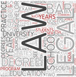Legal education Word Cloud Concept