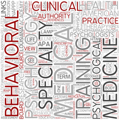 Medical psychology Word Cloud Concept