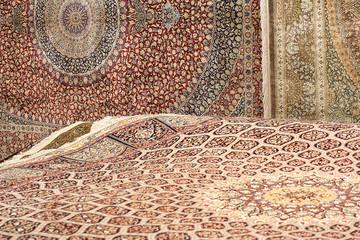 Interior of the carpet shop