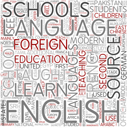 Modern language Word Cloud Concept