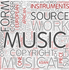 Musical composition Word Cloud Concept