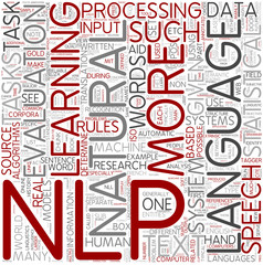 Natural language processing Word Cloud Concept