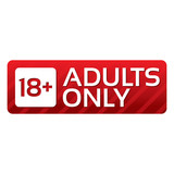 Adults only content button. Red sticker.