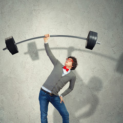Weight Lifting businessman