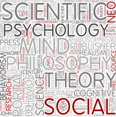 Philosophy of psychology Word Cloud Concept