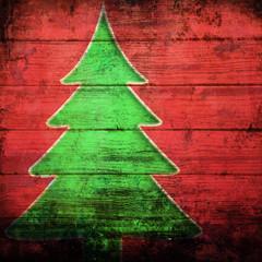 albero di Natale grunge
