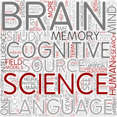 Cognitive science Word Cloud Concept