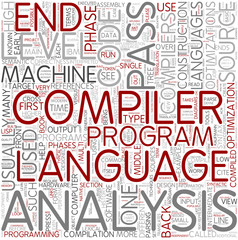 Compilers Word Cloud Concept