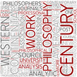 Contemporary philosophy Word Cloud Concept