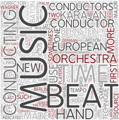 Conducting Word Cloud Concept