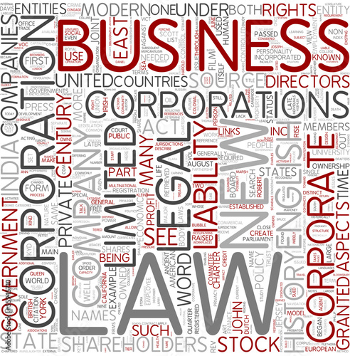 Corporations Word Cloud Concept