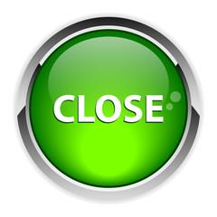 button close on white background icon green