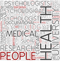 Health psychology Word Cloud Concept