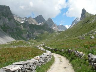 Chemin du col de la Vanoise