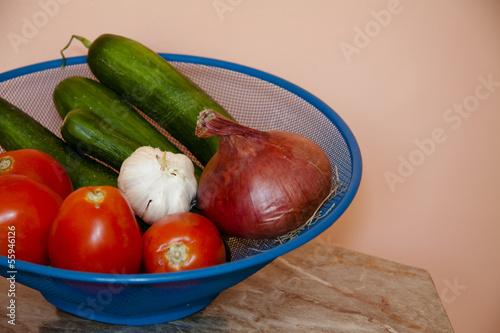 Zwiebel mit Tomaten