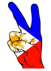 Peace Sign of the Philippine flag.
