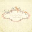 Stylish floral hand drawn frame
