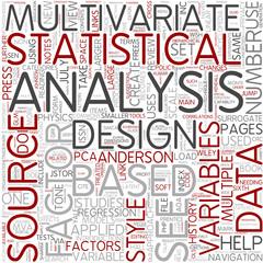 Multivariate analysis Word Cloud Concept