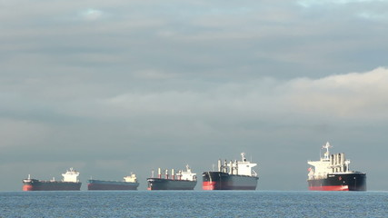 English Bay Freighters Anchored, Vancouver