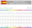 2014 Spanish Planner-2 Calendar with Vertical Months