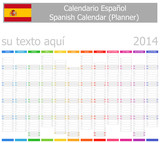 2014 Spanish Planner-2 Calendar with Vertical Months
