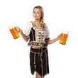 beautiful woman in tiroler or oktoberfest outfit